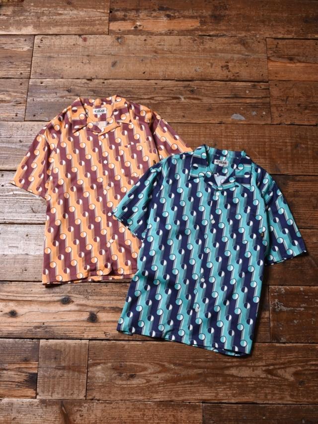 CALEE  「GEOMETRIC DOT PATTERN S/S SHIRT」 オープンカラーシャツ