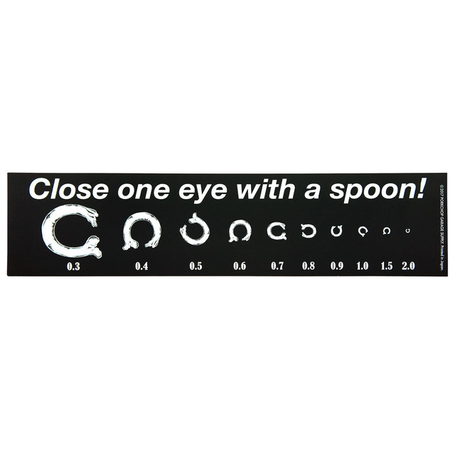 PORKCHOP GARAGE SUPPLY   「 BUMPER STICKER /   Close one eye with a spoon ! 」  ステッカー