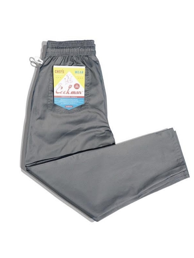 COOKMAN 「Chef Pants Gray」 シェフパンツ