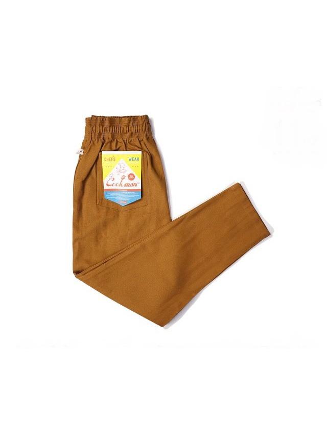 COOKMAN 「Chef Pants Duck Canvas Brown」 ダックキャンバス シェフパンツ