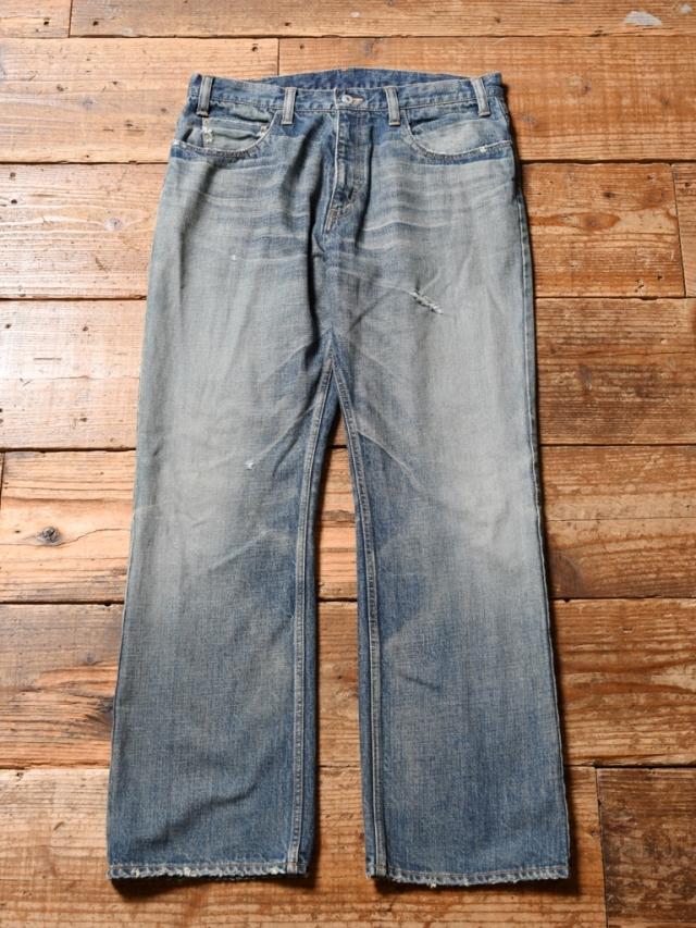 CALEE  「VINTAGE REPRODUCT BOOTS CUT USED DENIM PANTS」 USED加工 ブーツカット デニムパンツ