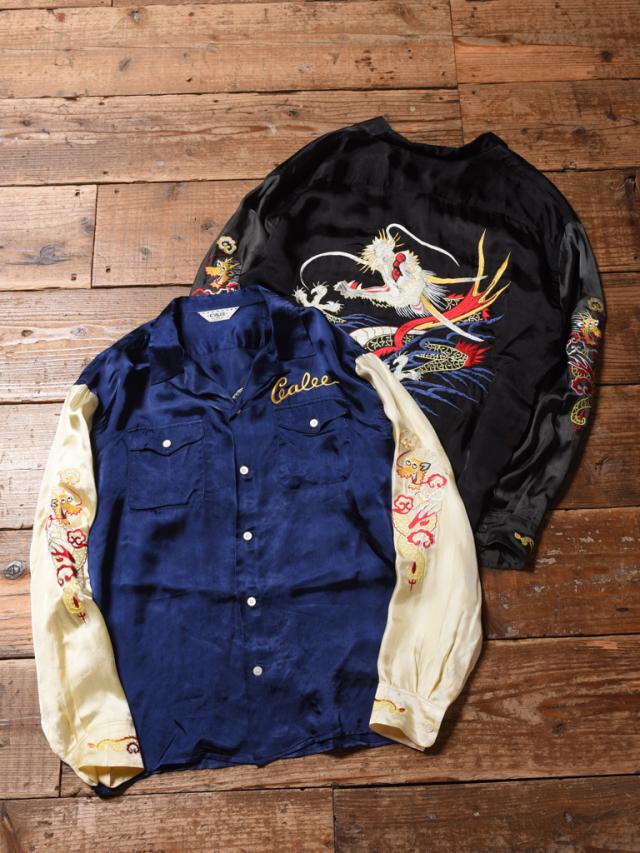 CALEE  「SOUVENIR EMBROIDERY L/S SHIRT」   スーベニアレーヨンシャツ