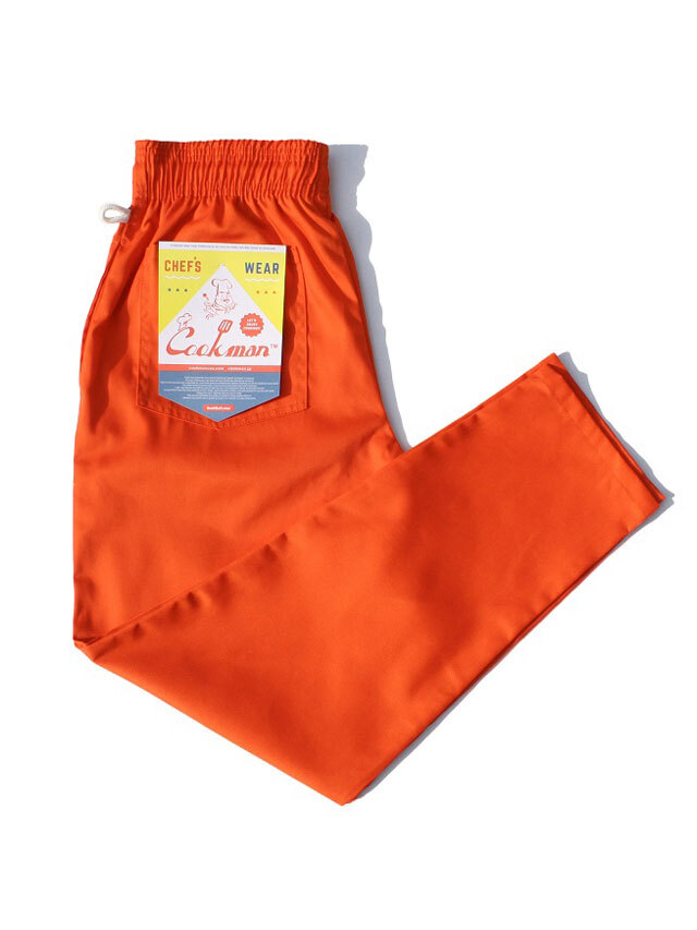 COOKMAN 「Chef Pants Orange」 シェフパンツ