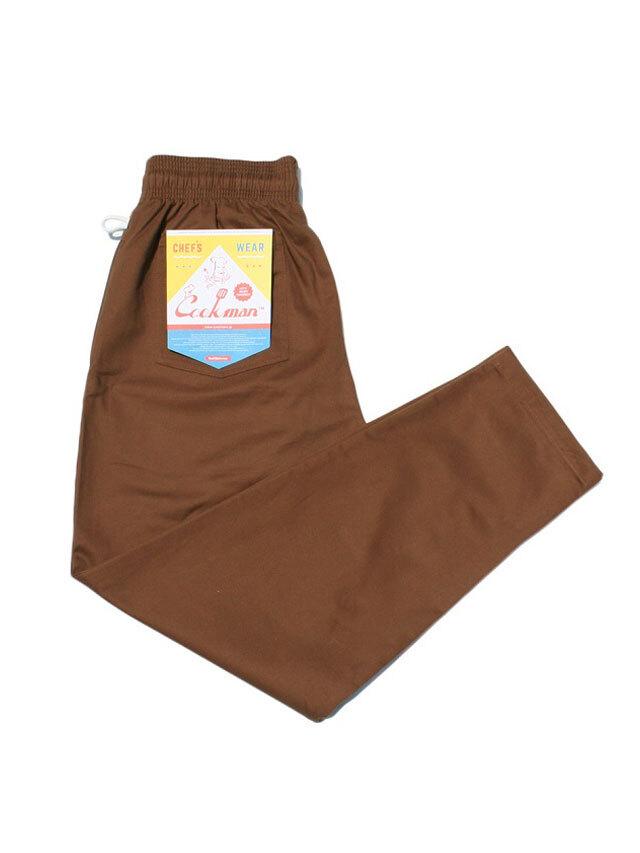 COOKMAN 「Chef Pants Chocolate」 シェフパンツ
