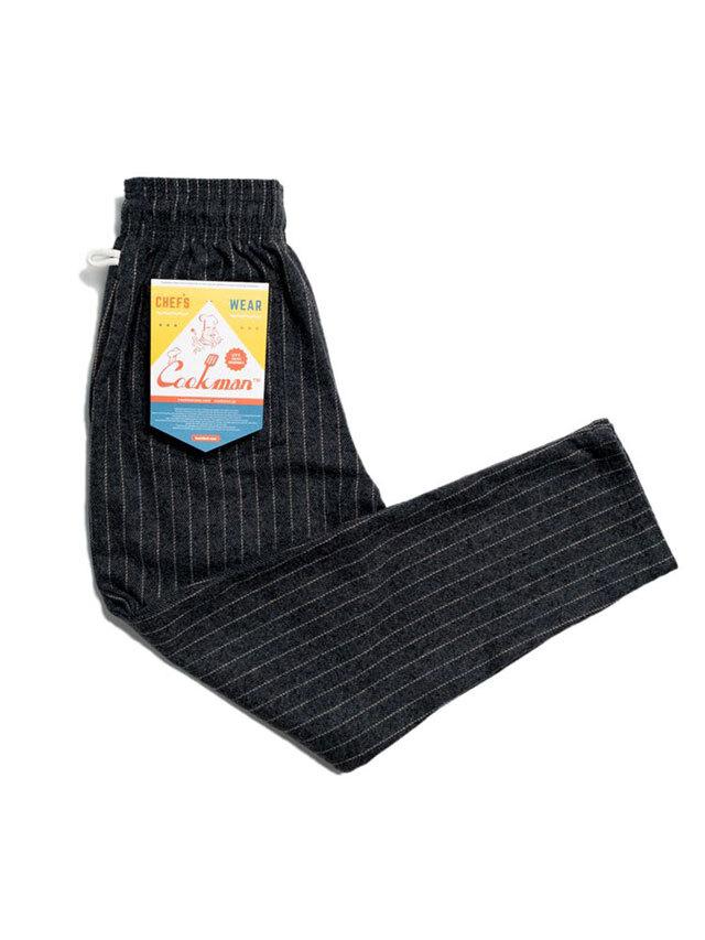 COOKMAN 「Chef Pants Wool Mix Stripe Gray」 シェフパンツ