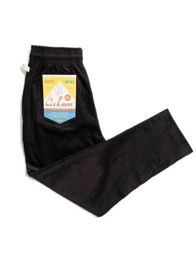 COOKMAN 「Chef Pants Corduroy Black」 シェフパンツ