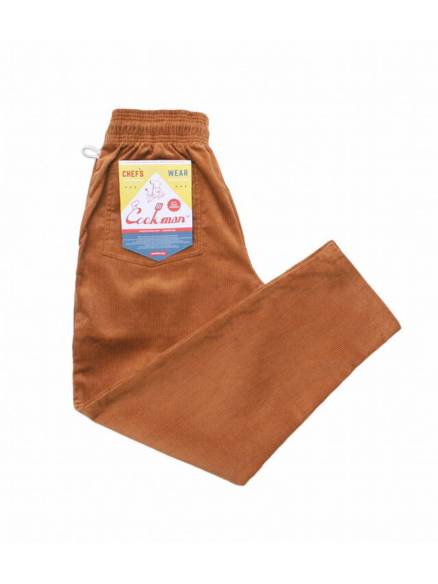 COOKMAN 「Chef Pants Corduroy Brown」 シェフパンツ