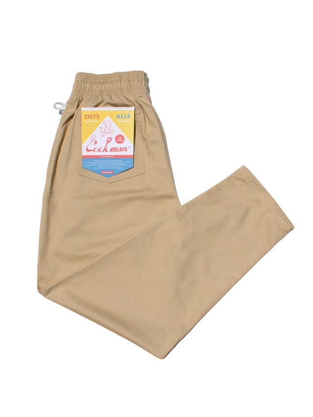 COOKMAN 「Chef Pants Sand」 シェフパンツ