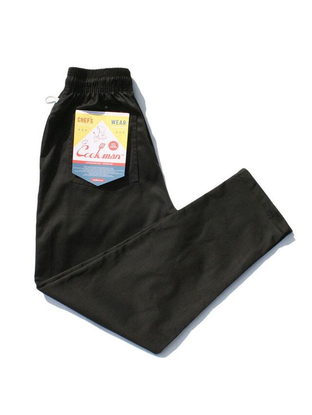 COOKMAN 「Chef Pants Black」 シェフパンツ