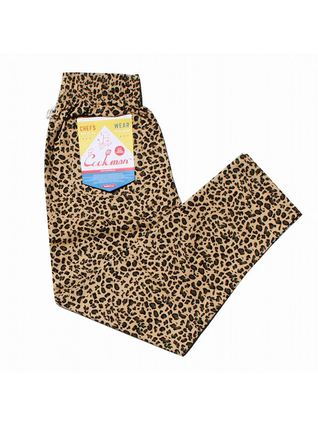 COOKMAN 「Chef Pants Leopard」 シェフパンツ