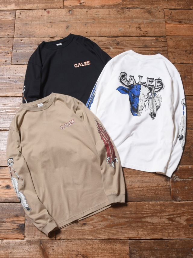 【NEW YEAR ITEM !!】 CALEE  「MULTI PRINT L/S T-SHIRT」  プリントロンティー