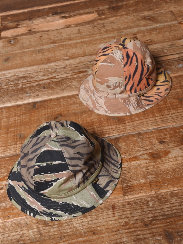 CALEE  「TIGER COMBINATION PATTERN METORO HAT」  タイガーコンビネーションパターン メトロハット