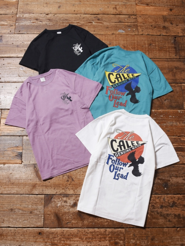 CALEE  「COTTON EAGLE T-SHIRT 」    プリントティーシャツ