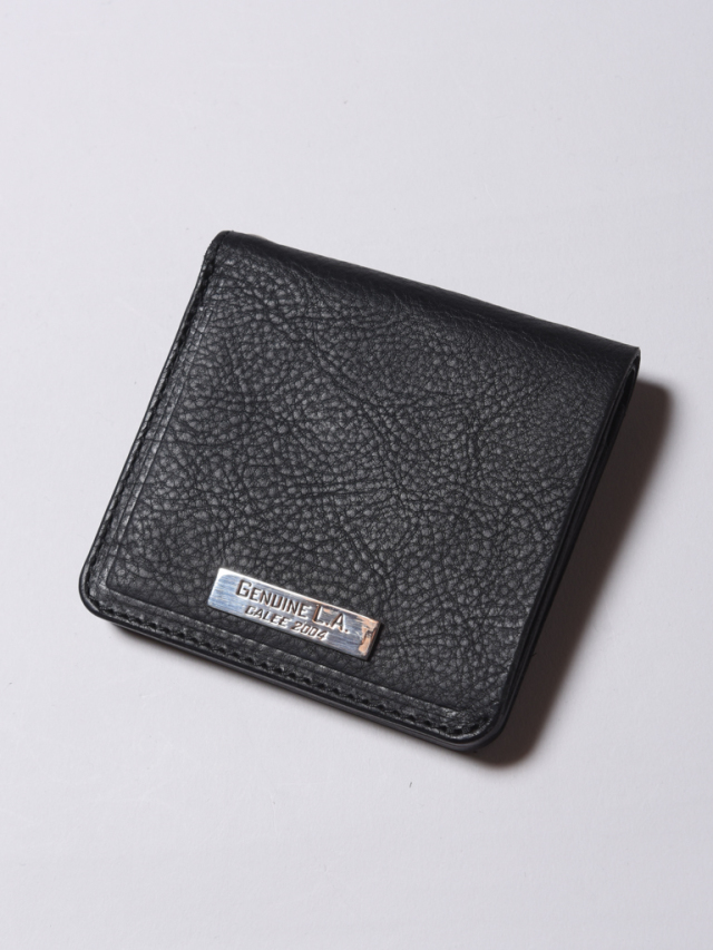 CALEE  「SILVER PLATE LEATHER SHORT WALLET」  レザーショートウォレット