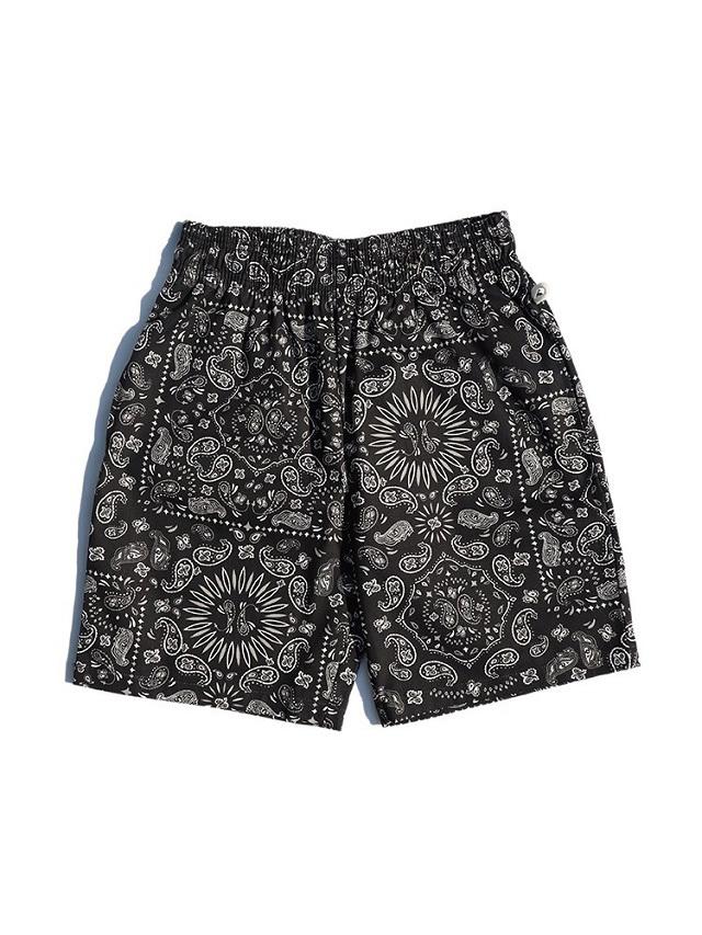 COOKMAN 「Chef Pants Short Paisley Black」 シェフパンツショート