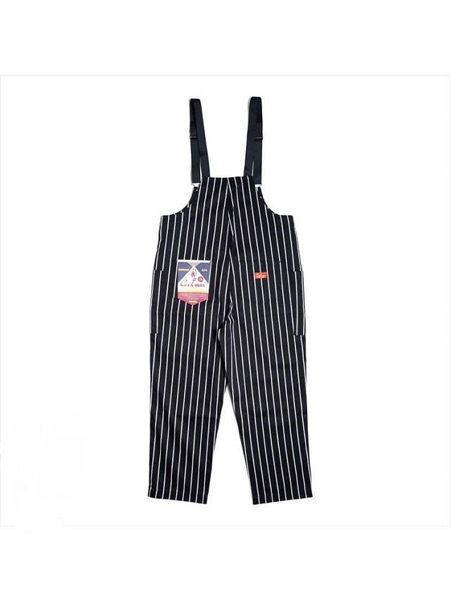 COOKMAN 「Fisherman's Bib Overall Stripe Black」 オーバーオール