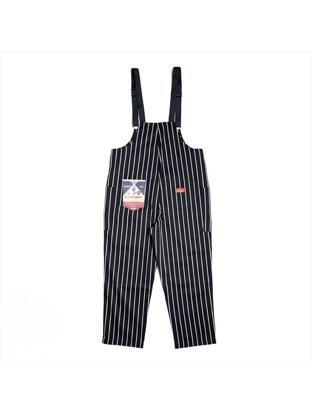 COOKMAN 「Fisherman's Bib Overall Stripe Black」 オーバーオール