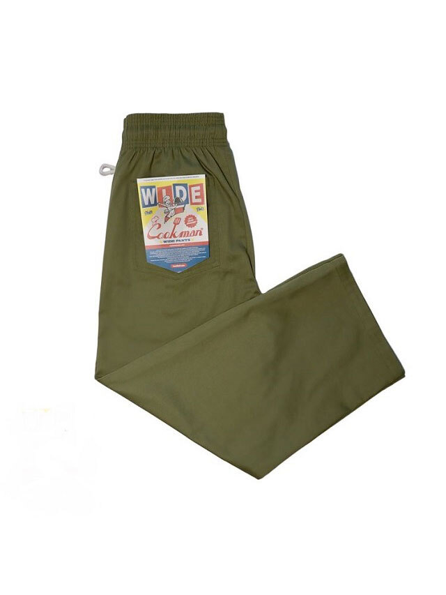 COOKMAN 「Wide Chef Pants Khaki」 ワイドシェフパンツ