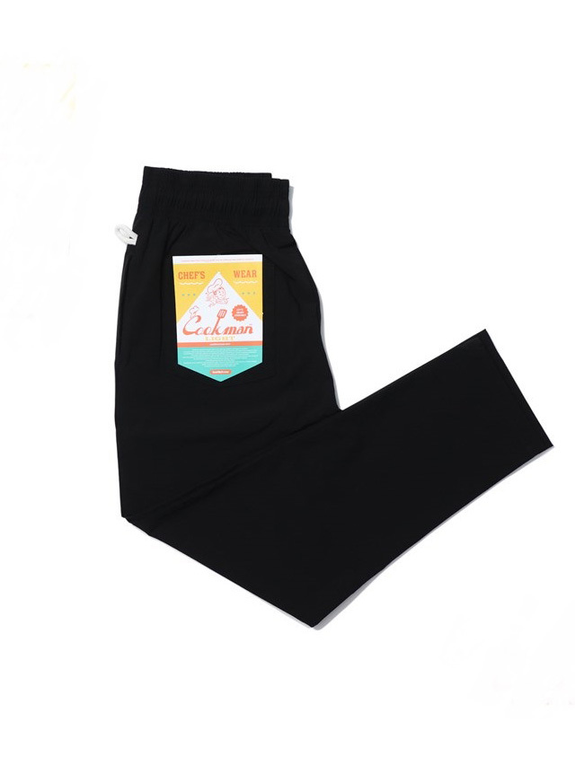 COOKMAN 「Chef Pants Light Black」 シェフパンツ