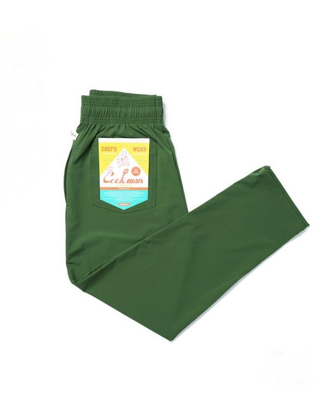 COOKMAN 「Chef Pants Light Green」 シェフパンツ