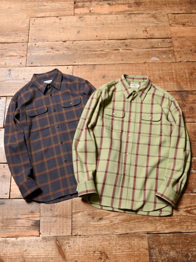 CALEE  「6/6 TWILL L/S CHECK SHIRT」 チェックシャツ