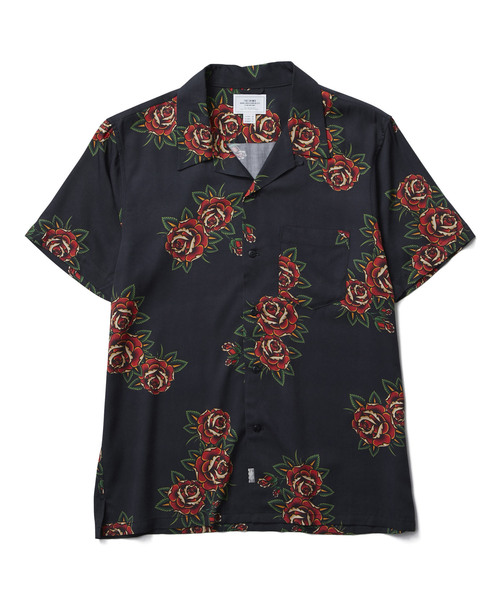 CRIMIE   「ROSE ALOHA SHORT SLEEVE SHIRT」 レーヨンアロハシャツ