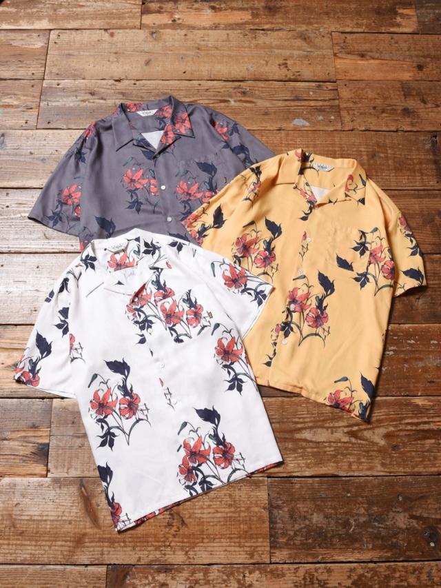 CALEE × MIHO MURAKAMI  「ALLOVER FLOWER PATTERN S/S SHIRT 」    オープンカラーシャツ