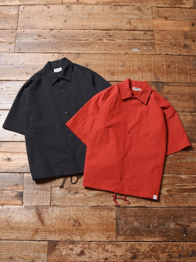 CALEE  「C/N PLAIN S/S SHIRT JACKET」  コットンナイロン シャツジャケット
