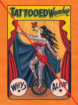 WZ LOWBROW COLLECTION   「TATTOOED WONDER」  A1サイズ ポスター