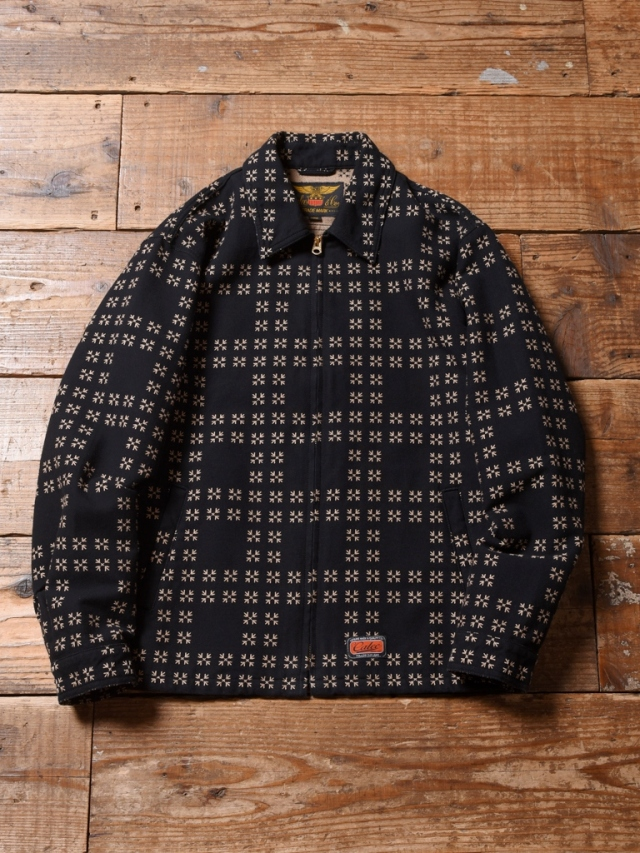 CALEE  「TRADITIONAL JAPANESE PATTERN SPORTS TYPE JACKET」  刺し子スポーツタイプジャケット