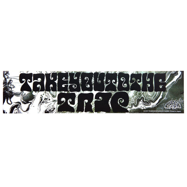 PORKCHOP GARAGE SUPPLY   「 BUMPER STICKER /  TAKE YOU TO THE TRIP 」  ステッカー