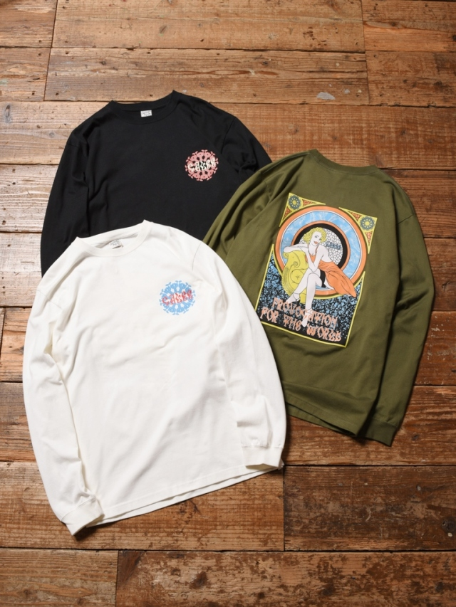 CALEE  「PROVOCATION FOR THE WORLD L/S T-SHIRT」  プリントロンティー