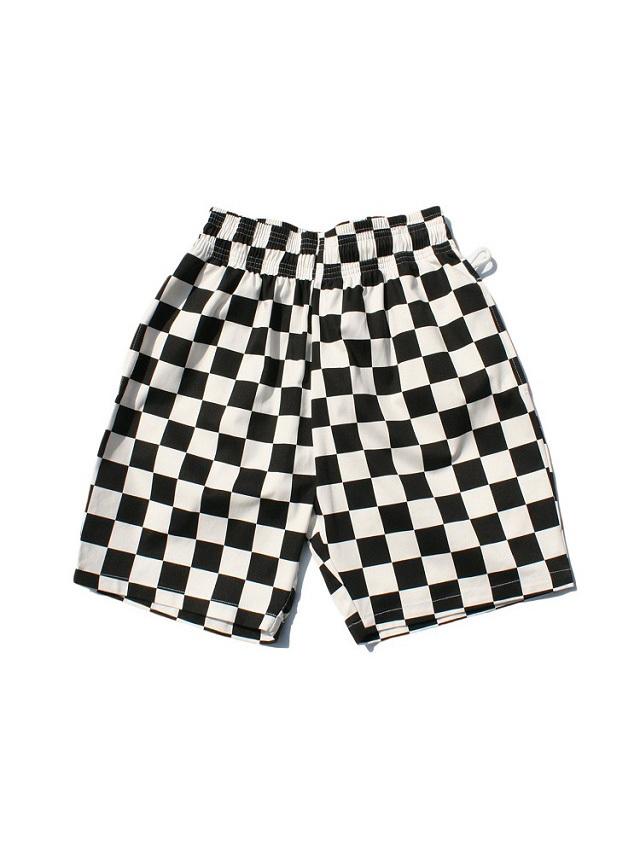 COOKMAN 「Chef Pants Short Checker Black」 シェフパンツショート