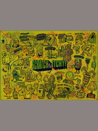 WZ LOWBROW COLLECTION  「SCRATCH that ITCHY」  A2サイズ ポスター