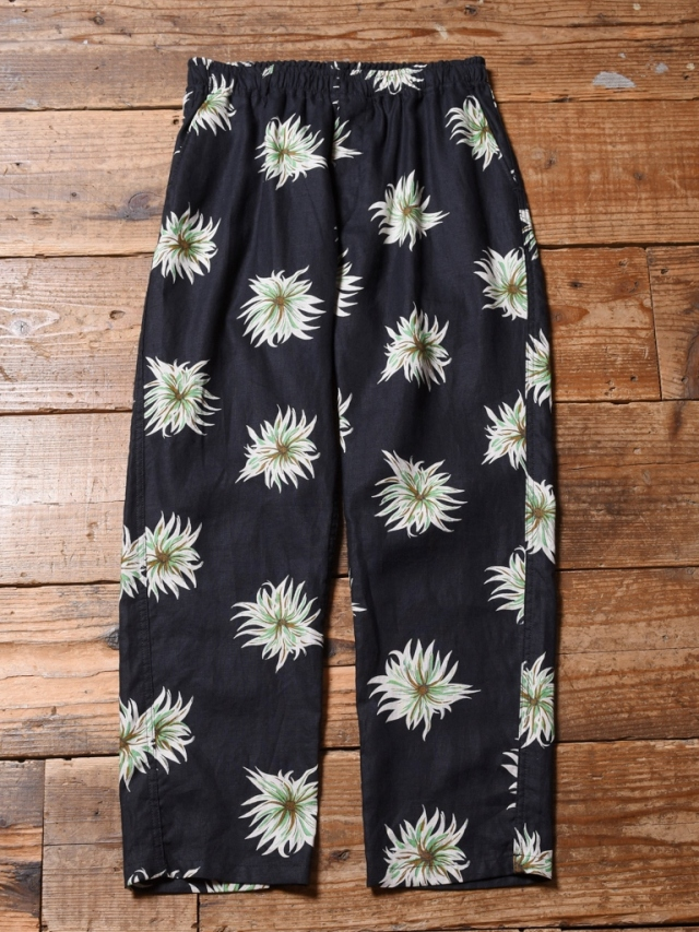 CALEE  「ALLOVER FLOWER PATTERN LINEN TAPERED PANTS」 リネン イージーパンツ