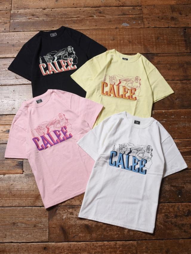 CALEE   「BINDER NECK BREATHER VINTAGE T-SHIRT 」    プリントティーシャツ