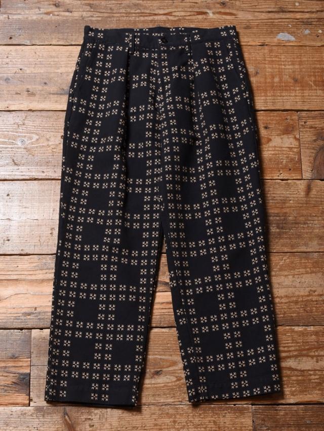 CALEE  「TRADITIONAL JAPANESE PATTERN PANTS」 刺し子パンツ