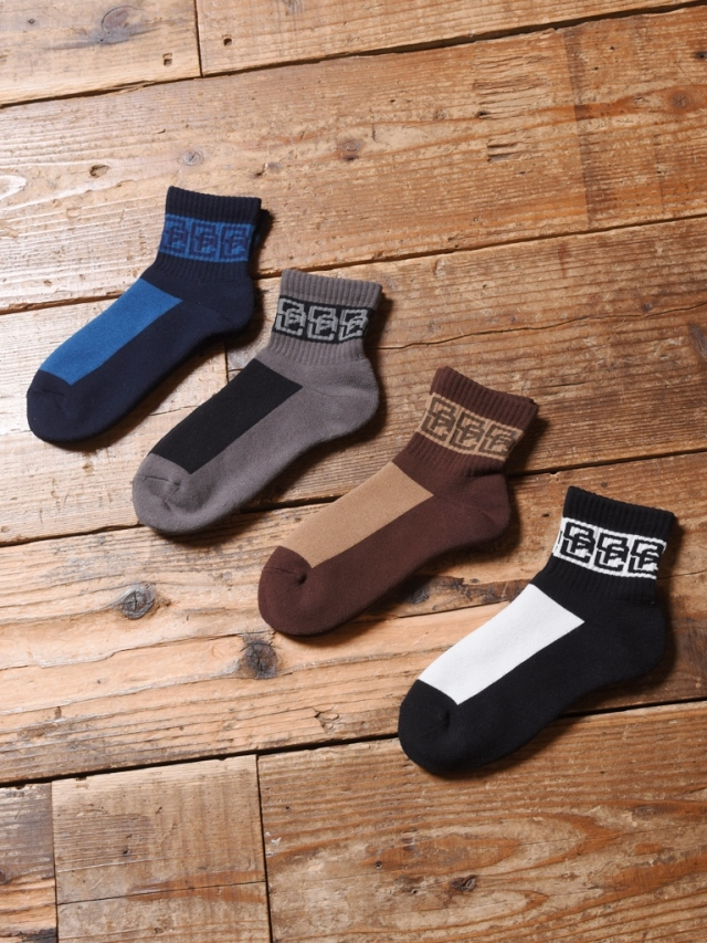 CALEE  「MONOGRAM PATTERN SHORT SOCKS」 ショートソックス