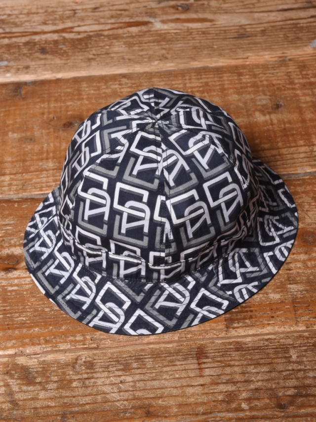 CALEE  「ALLOVER MONOGRAM PATTERN REVERSIBLE METRO HAT」  リバーシブルハット
