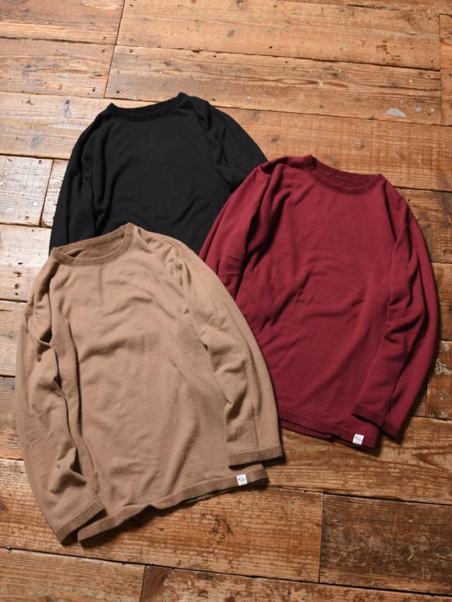 CALEE  「9 LENGTH SLEEVE FLAT PILE REVERSIBLE T-SHIRT 」    パイルリバーシブル 9分丈ティーシャツ