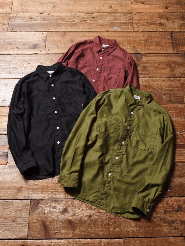CALEE  「L/S PLANE WORK SHIRT」    ワークシャツ