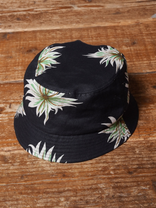 CALEE  「ALLOVER FLOWER PATTERN LINEN BUCKET HAT」 リネン バケットハット