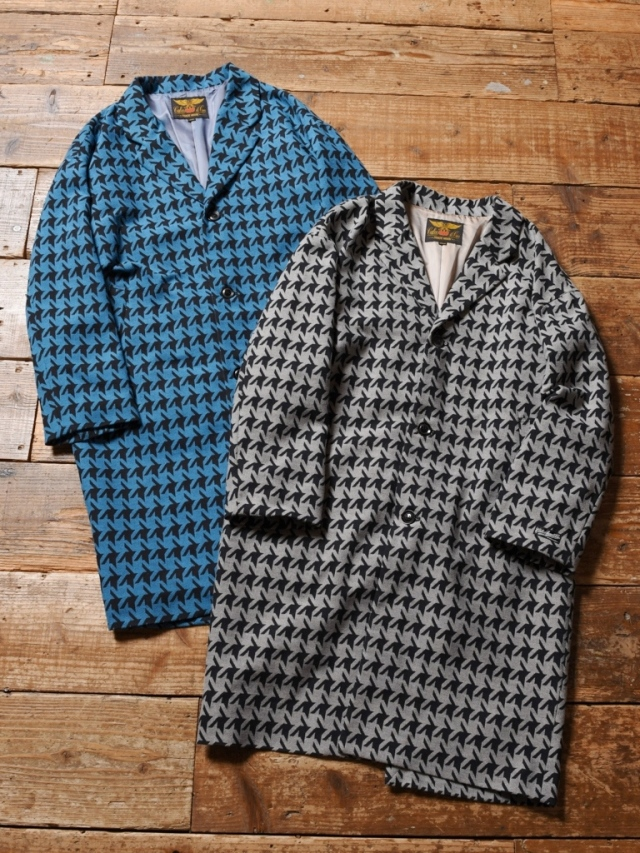 CALEE  「HOUND TOOTH PATTERN CHESTER COAT」  チェスターコート