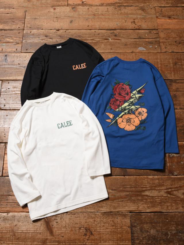 CALEE   「8LENGTH SLEEVE THUNDERBOLT SET IN T-SHIRT」   セットイン8分丈ティーシャツ