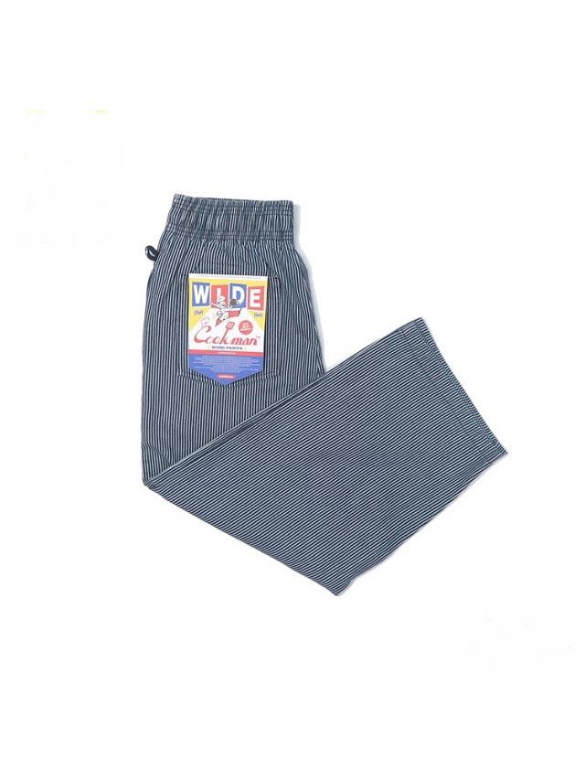 COOKMAN 「Wide Chef Pants Hickory Navy」 ワイドシェフパンツ