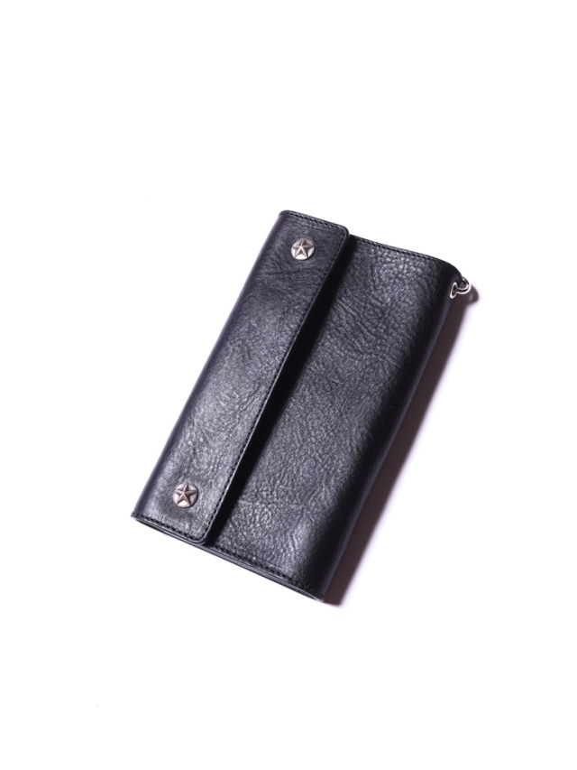 CALEE  「SILVER STAR CONCHO FLAP LEATHER LONG WALLET」 レザーロングウォレット