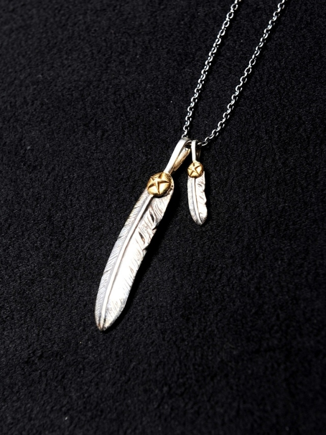 CALEE × JAM HOME MADE  「FEATHER NECKLACE」  SILVER製 ネックレス