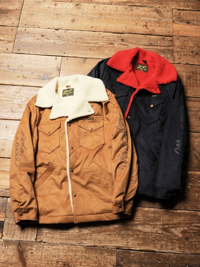 CALEE × Wrangler  「Fake suede ranch boa coat 」  ランチコート