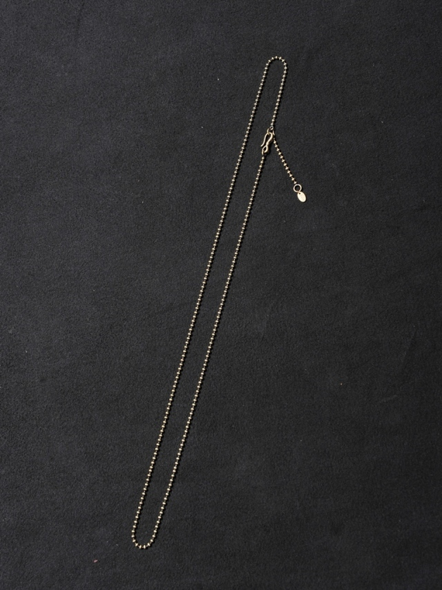 CALEE  「LONG BALL NECKLACE CHAIN (BRASS)」  BRASS製 ボールネックレスチェーン