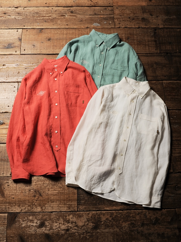 CALEE  「LINEN BUTTON DOWN L/S SHIRTS」  リネンボタンダウンシャツ